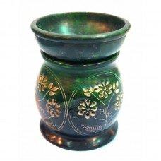 Аромалампа каменная круглая зеленая