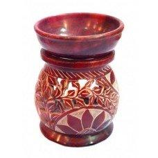 Аромалампа каменная круглая красная