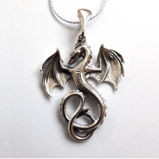 Дракон амулет-талисман серебряный