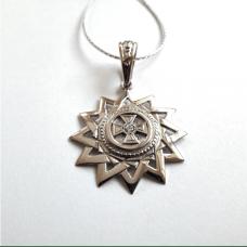 Звезда Эрцгаммы амулет-талисман серебряный