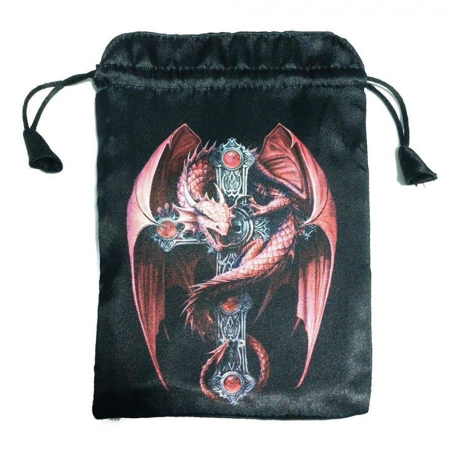 Мешочек для карт Таро Красный Дракон