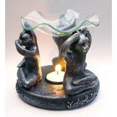 """Аромалампа """"Три Кота"""" под камень со стеклянной чашей"""