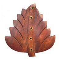 Подставка под аромапалочки деревянная Лист