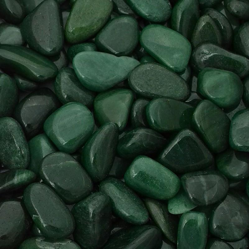 Авантюрин темно-зеленый галтовка