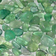 Флюорит галтовка бледно-зеленый