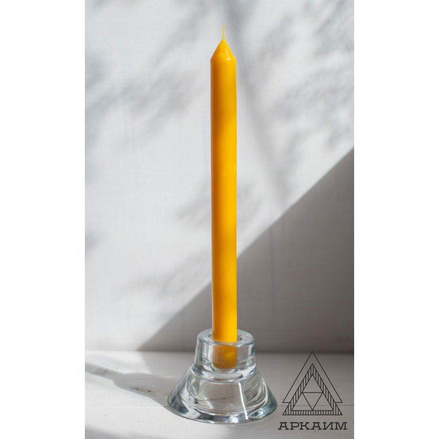 Свеча восковая Желтая