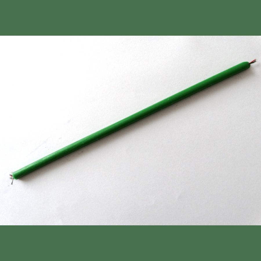 Свеча зеленая тонкая