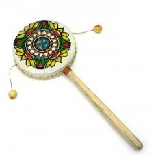 Дамару двойной ритуальный барабан