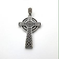 Кельтский Крест амулет-талисман серебряный