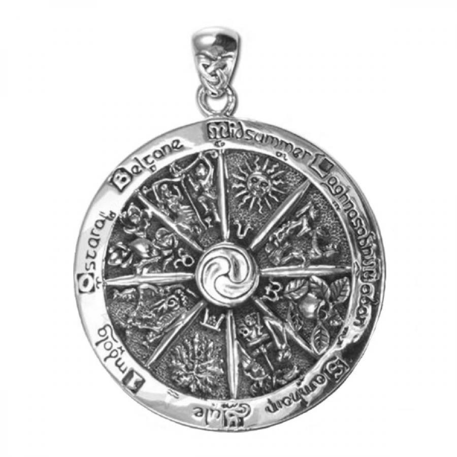 Колесо Года талисман серебряный