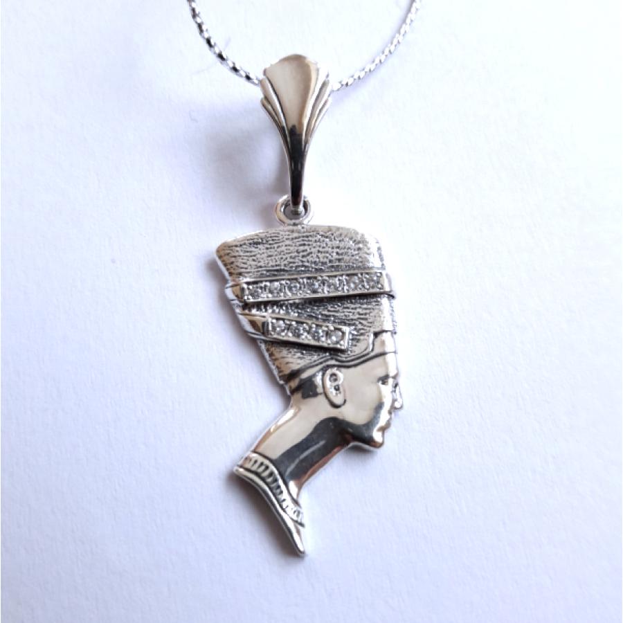 Нефертити амулет-талисман серебряный