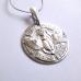 Жук Скарабей с египетскими иероглифами амулет-талисман серебряный