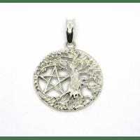 Древо Жизни с пентаграммой защитный амулет серебряный