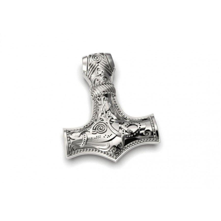 Молот Тора защитный скандинавский амулет серебряный