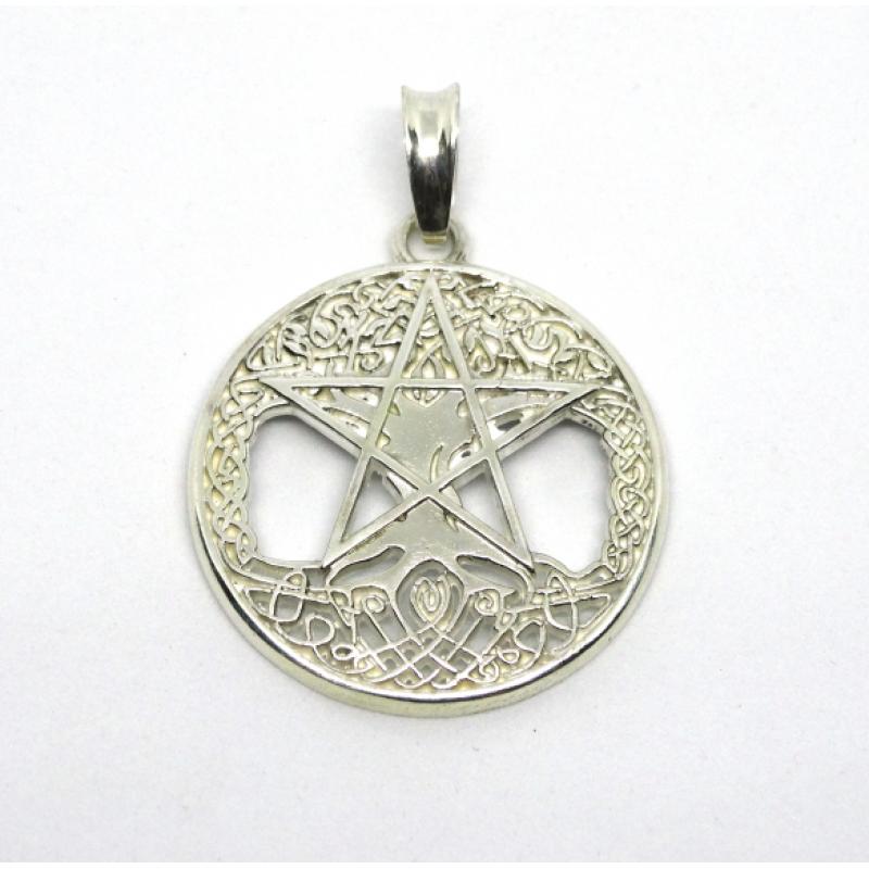 Пентаграмма на Древе Жизни амулет защитный серебряный