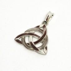 Трикветр защитный амулет серебряный