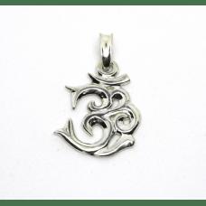 Знак Ом амулет-талисман серебряный