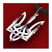 Тризуб амулет-оберег серебряный