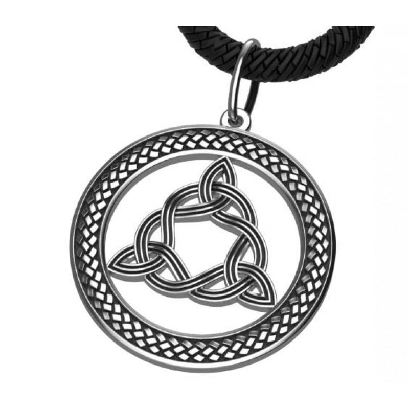 Узел Бригит кельтский амулет оберег серебряный