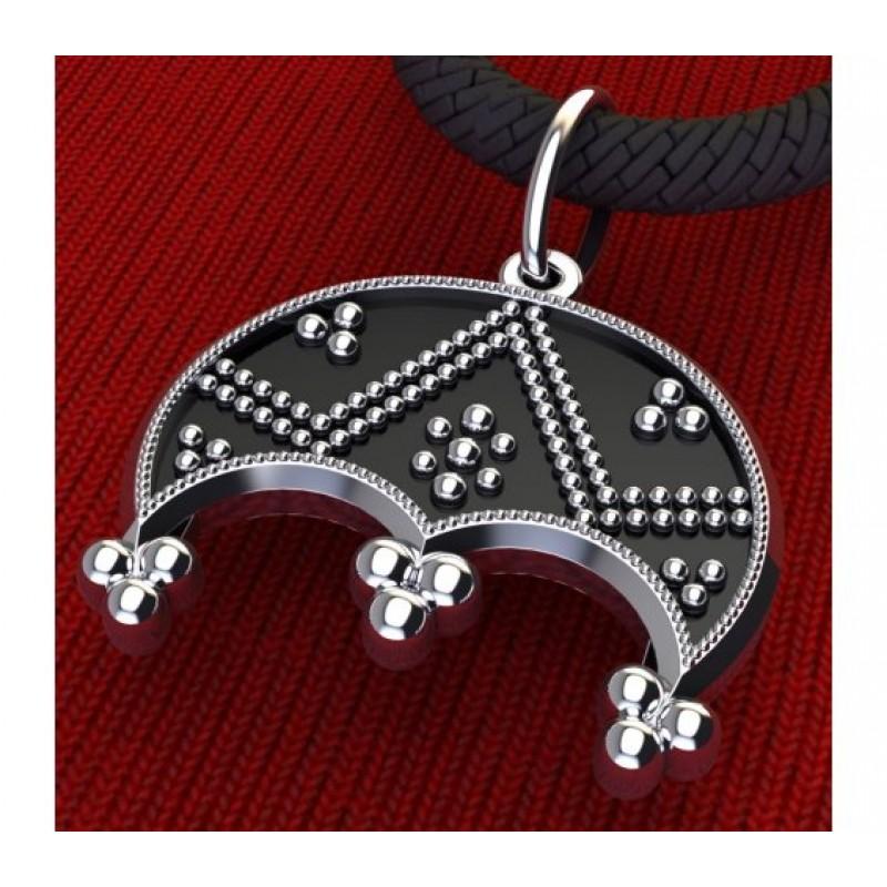 Лунница амулет-талисман серебряный