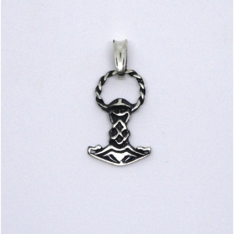 Молот Тора скандинавский оберег серебряный