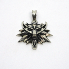 Волк Ведьмака амулет серебряный