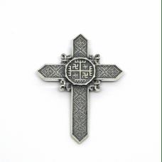 """""""Крест Руки Бога"""" Оберег славянский серебряный"""