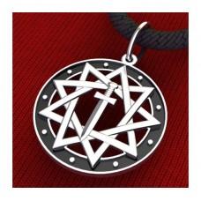 Звезда Инглии славянский оберег серебряный
