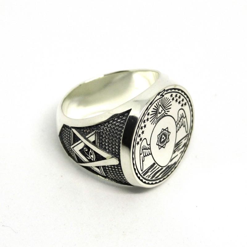 Перстень Масонский Печатка Устава Мемфис - Мицраим