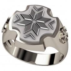 Перстень Алатырь оберег славянский серебряный