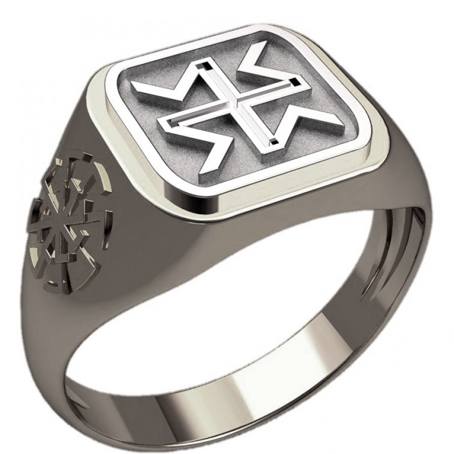 Перстень Дхата оберег славянский серебряный