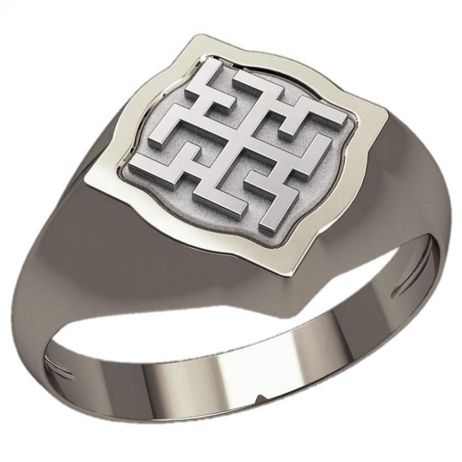 Перстень Духобор оберег славянский серебряный
