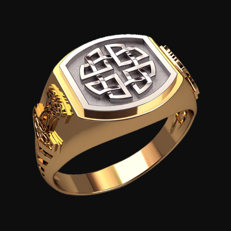 Перстень Кельтский Узел Защиты амулет серебряный