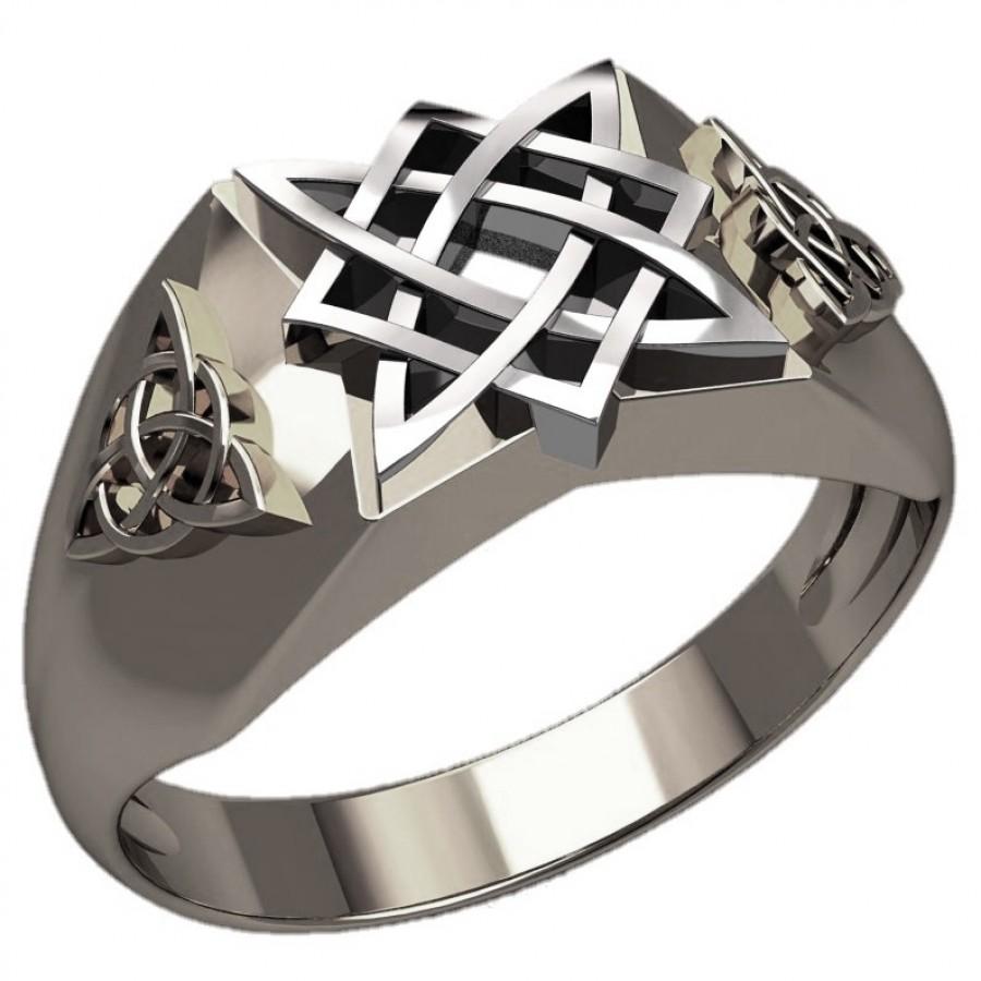 Перстень Квадрат Сварога оберег славянский серебряный