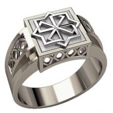 Перстень Молвинец оберег славянский серебряный