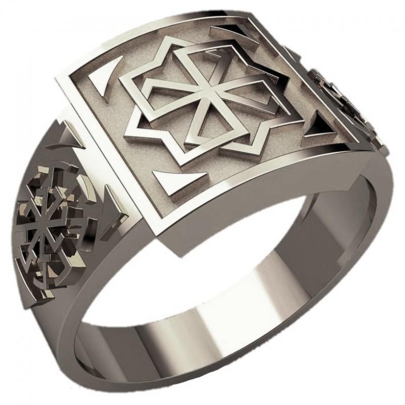 Перстень Молвинец Свитовит-Светоч оберег славянский серебряный