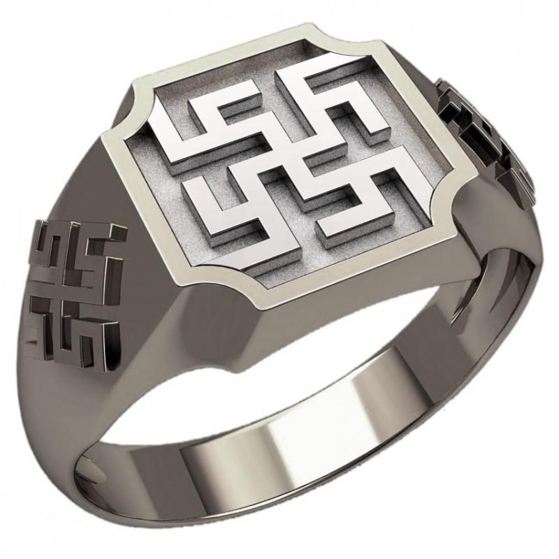 Перстень Перунов Цвет оберег славянский серебряный