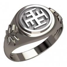 Перстень Ратиборец оберег славянский серебряный