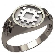 Перстень Репейник Счастья оберег славянский серебряный