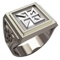 Перстень Солонь оберег славянский серебряный