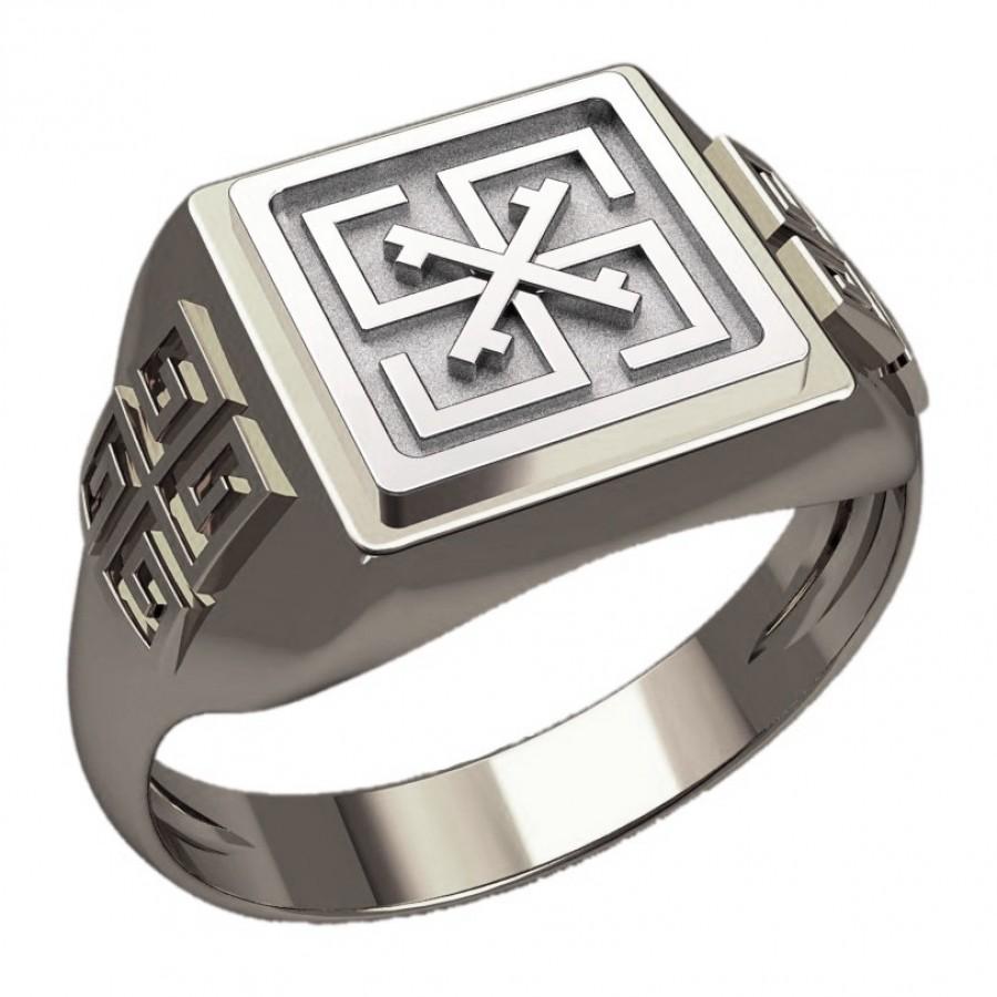 Перстень Сварга оберег славянский серебряный