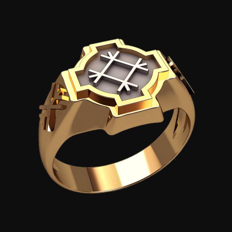 Перстень Целебник оберег славянский серебряный