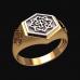 Перстень Валькирия оберег славянский серебряный