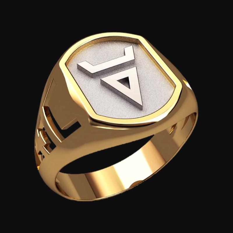 Перстень Велес оберег славянский серебряный