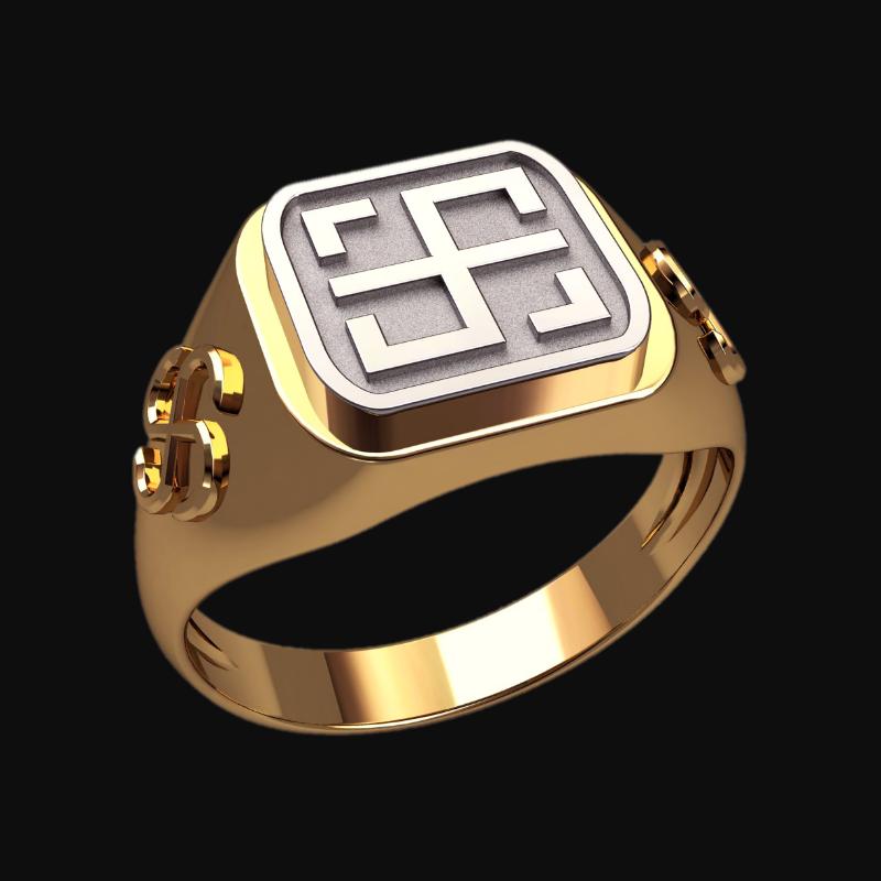 Перстень Всеславец оберег славянский серебряный