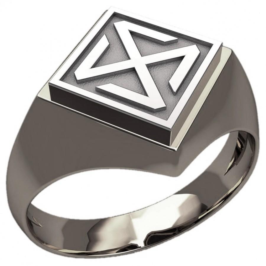 Перстень Зонненрад оберег серебряный