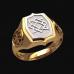 Перстень Звезда Сварога оберег славянский серебряный