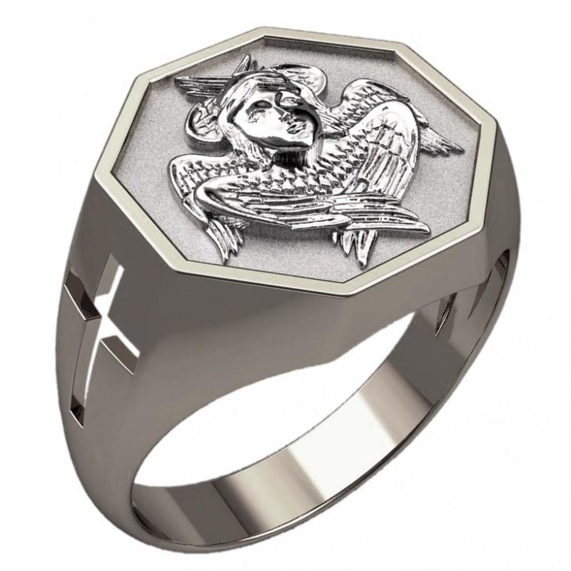 Перстень обережный с Серафимом