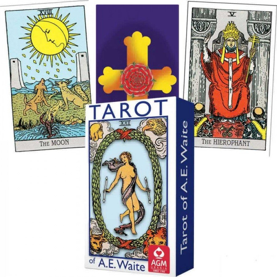 Карты Таро Уэйта синее A. E. Waite Tarot (Blue edition) standard