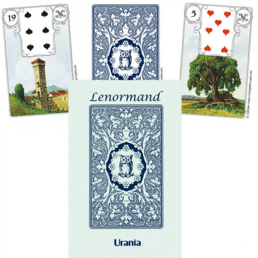 Карты Мадемуазель Ленорман Голубая Сова Mlle Lenormand Blue Owl